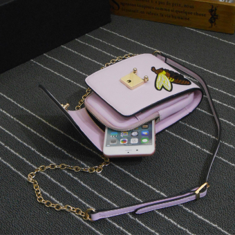 Jianyue embroidered New style Shishang mobile phone bag (Purple Color bee origional)