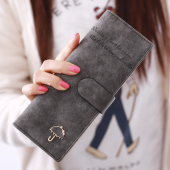 Jianyue female credit KAKA card holder (Gray and black color)