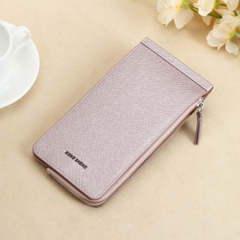 Jianyue ultra-thin wallet multi-function card holder (Light purple color)