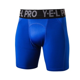 JIEYUHAN Men's Compression Shorts Baselayer Cool Dry Sports TightsBlue - intl