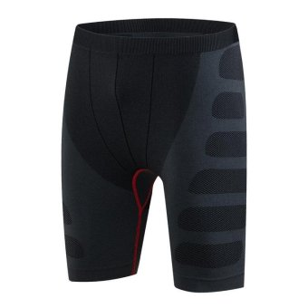 JIEYUHAN Men's Shorts Dry Compression Running Pants Shorts Tights(Black) - intl