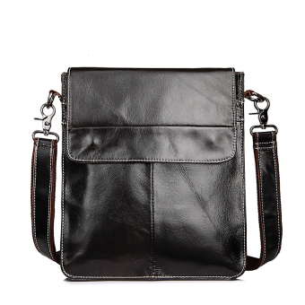 Jiuchengliangpin retro first layer of Leather Oil Wax Leather small shoulder bag men's bag