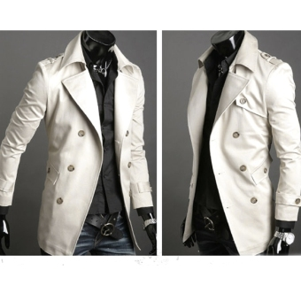 Jo.In Men's Stylish Double Breasted Long Trench Coat JacketWindbreak 2 Colors