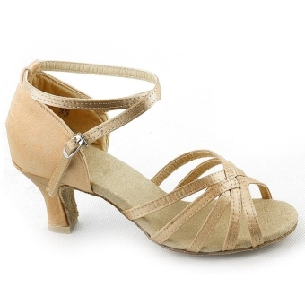 Jo.In Women's Brillante Latin Ballroom Dance Shoes Latin Shoes(Beige)