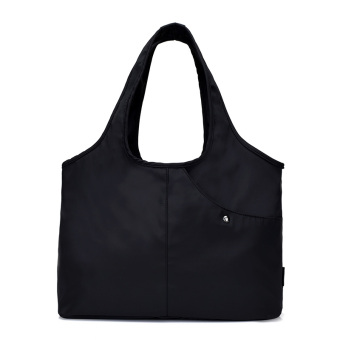 Jokod nylon ultra-light large capacity mummy cloth bag large bag (Black)