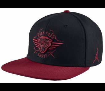 Jordan Dunk From Above Snapback - Adult (Black/Gym Red)