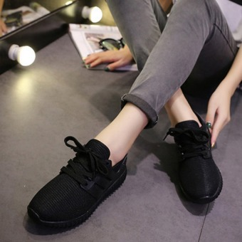JOY Korea Korean fashion Flat shoes casual shoes breathable coconut Black