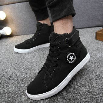 JOY Korea Korean fashion Men's fashion canvas shoes (black) Price Philippines