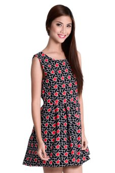 Juliet 4 Dress By Fashion HausOnline (Black/Red)