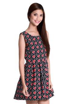 Juliet 4 Dress By Fashion HausOnline (Black/Red)