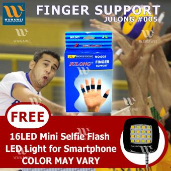 Julong Fitness Gear Finger Support (Blue) With FREE 16LEDFlash&Fill-In Light