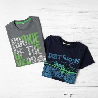 jusTees Boys 2-piece Graphic Tee Set (Size 10)