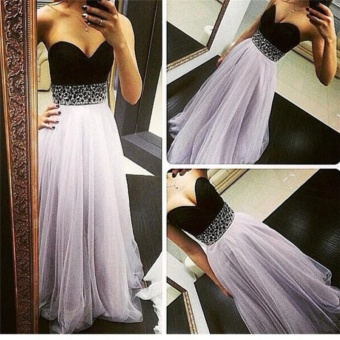 JVIVI Summer Women dress Sexy Long Dresses 2017 Sleeveless ElegantCasual Patchwork Chiffon Slim Maxi Long Gown Elegant PrincessWedding Party Dresses - intl