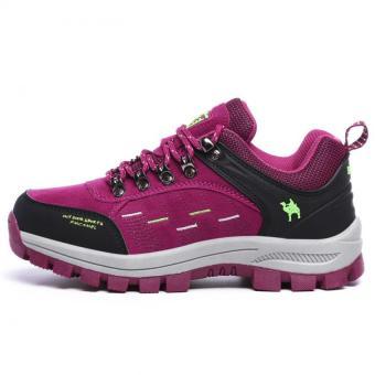 KAILIJIE Women's Suede Leather Outdoor Walking Shoes (Purple) -Intl - 3