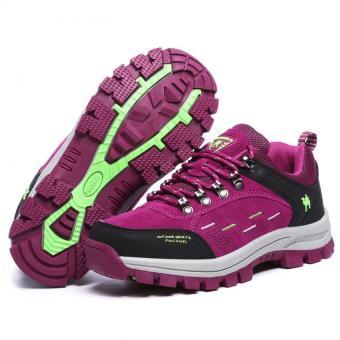 KAILIJIE Women's Suede Leather Outdoor Walking Shoes (Purple) -Intl - 4