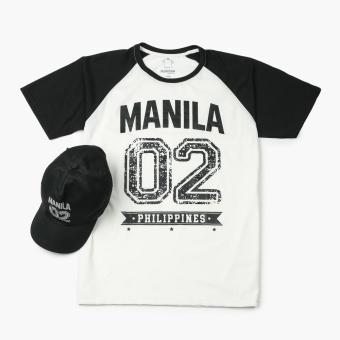 Kamisa By Kultura Mens Graphic Tee and Baseball Cap (Black)