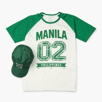 Kamisa By Kultura Mens Graphic Tee and Baseball Cap (Green)
