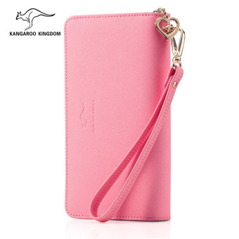 Kangaroo kingdom Korean-style women's leather zip New style women's wallet clutch bag