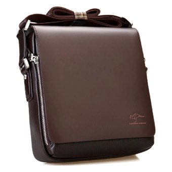 Kangaroo Kingdom Premium PU Leather Men Messenger Bag - Brown - intl