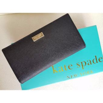 Kate Spade Cameron Street - Stacy Textured Leather Wallet-Black