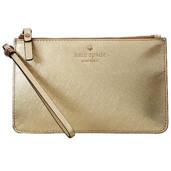 Kate Spade New York Cedar Street Slim Bee Wristlet (Gold)