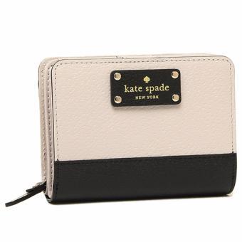 Kate Spade Wellesley Cara French Leather Clutch Wallet - BeigeBlack - 2