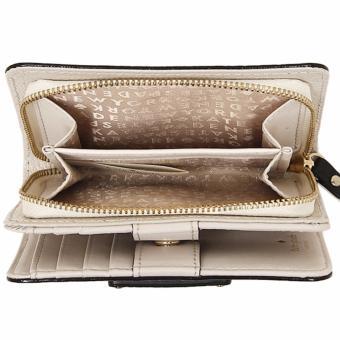 Kate Spade Wellesley Cara French Leather Clutch Wallet - BeigeBlack - 3