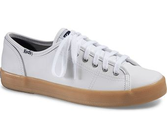 Keds Ladies Kickstart Leather Sneakers (White/Gum) Price Philippines