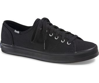 Keds Ladies Kickstart Sneakers (Black/Black)