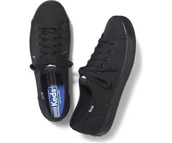 Keds Ladies Kickstart Sneakers (Black/Black) - 3