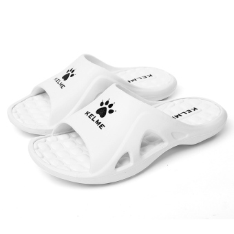 Kelme home for men and women children's summer casual sandals slippers (White)