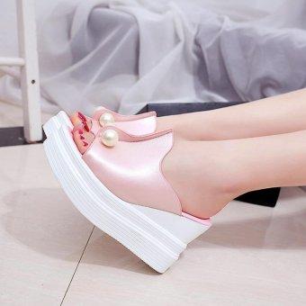Khoee 520 Women's Casual High Heels Sandals Wedge Platform (pink) - 2