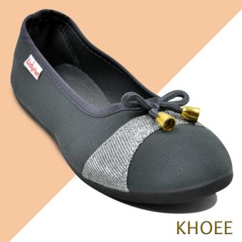Khoee AA-017 Grey Mitch Women's Doll Ballet Flat Shoes
