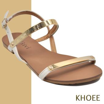 Khoee AZ-336 Cream Women's Flat Sandals