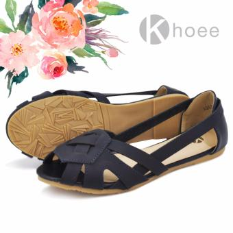 Khoee Fashion Sandals for Women A268-21A (Navy Blue)
