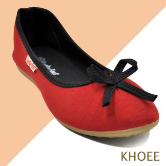 Khoee LKF-06 Red Estrella Women's Doll Ballet Flat Shoes