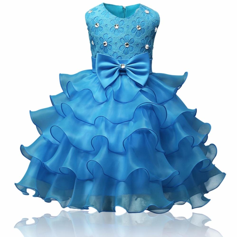 Philippines   Kids lace ruffles dress baby christening girl dress ...