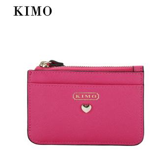 Kimo European and American leather multi-purpose documents bag women's purse bag (Rose)