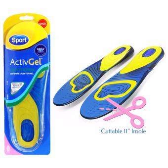 King's Gel Sport Shoe Insole Anti Callow and Smell Cuttable 11 Inches for Women (Pair)
