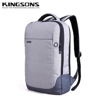 Kingsons 15.6 Inches Laptop Backpack Anti-theft Nylon School Bag Notebook Computer School Satchel Travel Trip Backpacks Rucksack (Grey) - intl