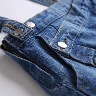 Kisnow Female Fashion Denim Midi Skirts(Color:Blue) - intl - 4