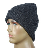 Knit Baggy Beanie Oversize Winter Ski Slouchy Chic Cap Hat Black