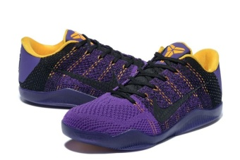 Kobe 11 generations of woven the correct version Black/ Purple/glod- intl Price Philippines