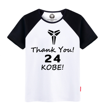 Kobe Bryant cotton commemorative retired Short sleeve T-shirt (Triangle 24 Raglan color)