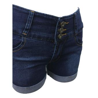 Korea High waist denim shorts female jeans - 3