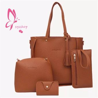 Korean 4 in 1 Fashion Elegant Shoulder Leather bag