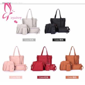 Korean 4 in 1 Fashion Elegant Shoulder Leather bag - 2