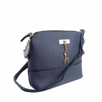Korean Bag Leather Sling Bag Reindeer Charm Chain Blue Casual Bag Body Bag Crossbody Bag Korean Fashion Bag - 2