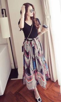 Korean Chiffon Maxi Dress