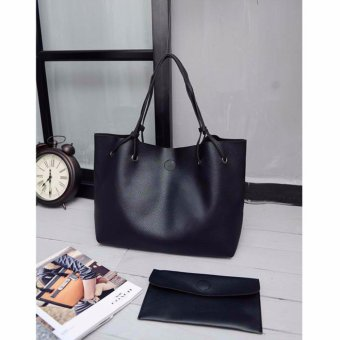 Korean custom leisure loose bag (black) Price Philippines